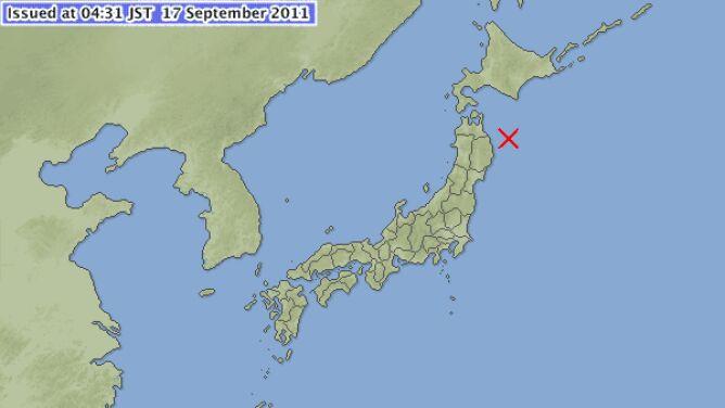 6,3 stopnia w skali Richtera. Ziemia w Japonii znów się trzęsie