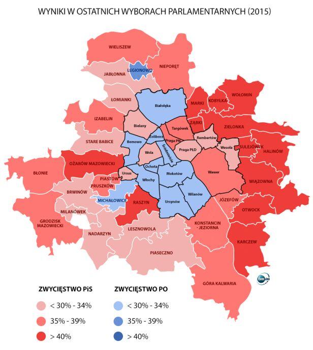 Wyniki ostatnich wyborów parlamentarnych tvn24.pl