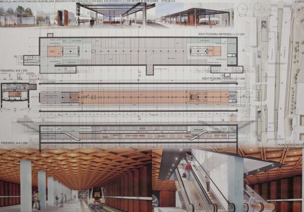 Planowana stacja na Bemowie materiały projektanta