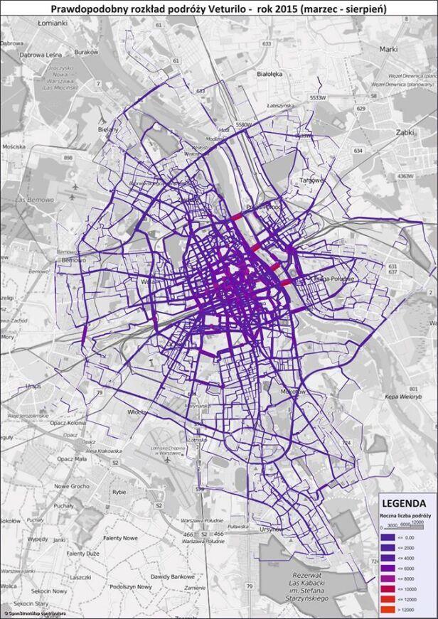 Mapa podróży rowerami Pełnomocnik ds. rowerowych