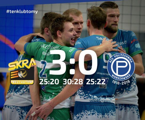 AZS PW w meczu ze Skrą Bełchatów Łukasz Leksowski/azspw.com