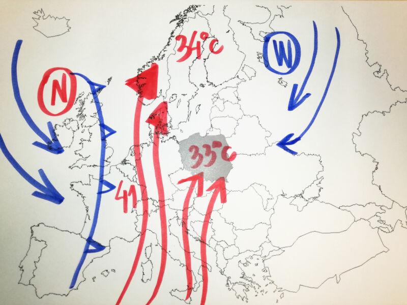 Do Europu napływa gorące powietrze