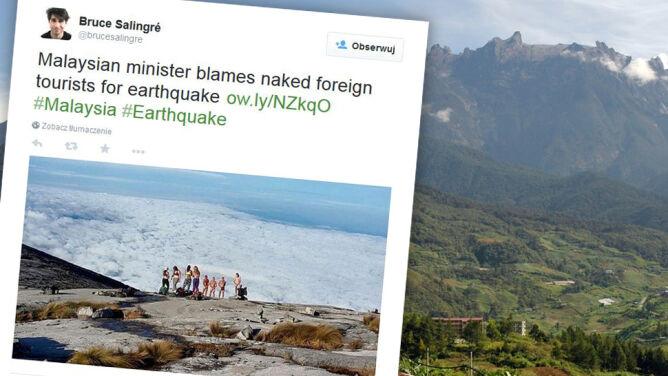 Nadzy turyści winni trzęsienia ziemi? Tak sądzą Malezyjczycy