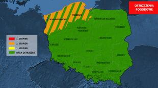 Ostrzeżenia dla dwóch województw. Silny wiatr, burze, wzrost stanu wody w Bałtyku