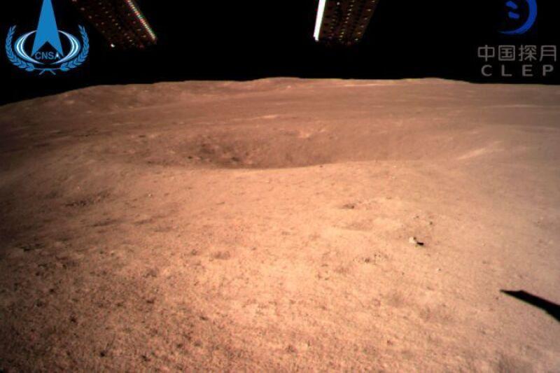 Pierwsze zdjęcie z lądowania (Chińska Narodowa Administracja Kosmiczna)