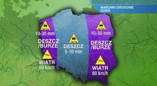 Warunki drogowe w niedzielę 16.05