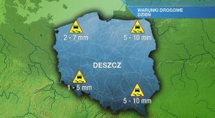 Warunki drogowe w czwartek 24.12
