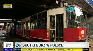 Katowice po burzach (TVN24)